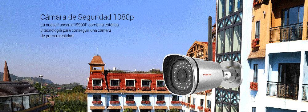 camara seguridad 1080p estética y tecnología Foscam FI9900P