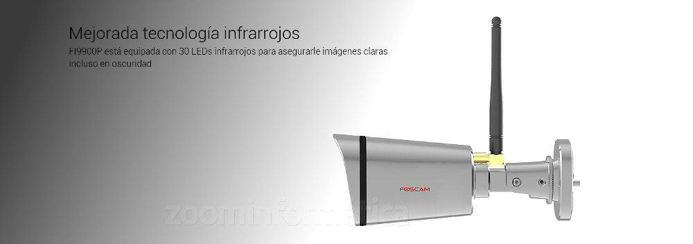 Vsion nocturna tecnologia infrarrojos Foscam FI9900P