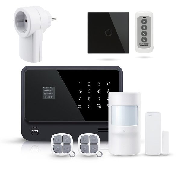 Alarma casa Kit seguridad Funciones Domotica Interruptor pared Enchufe WiFi AZ019 28