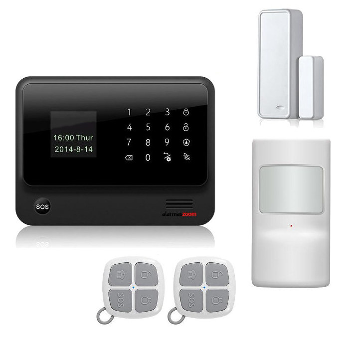 alarmas-zoom AZ019 G90B PLUS B KIT ALARMA WiFi G90B Plus con APP WIFI GSM GPRS color negro