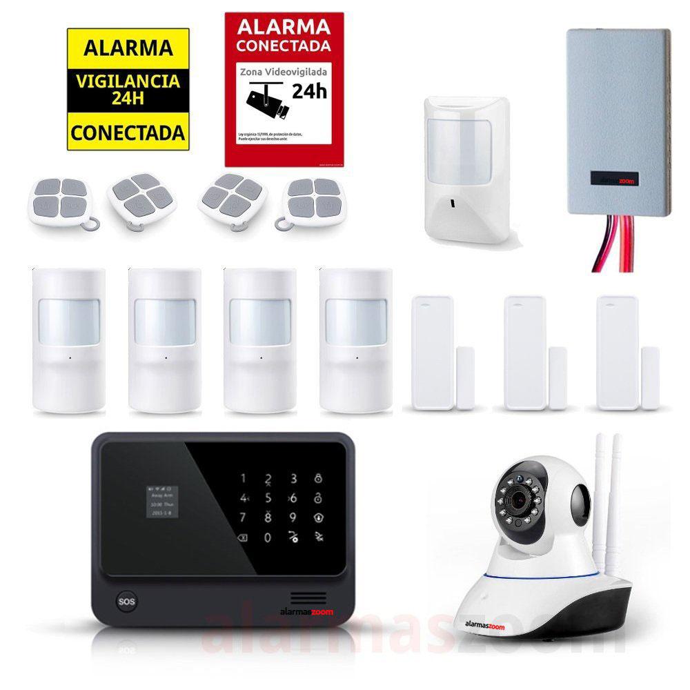 Kit seguridad alarmas casa Camara vigilancia Detector inhibidores AZ019 32