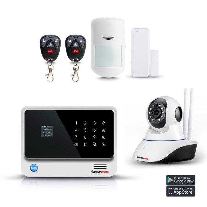 Alarma Hogar WiFi GSM Sin Cuotas Camara vigilancia IP interior Kit G90B 3