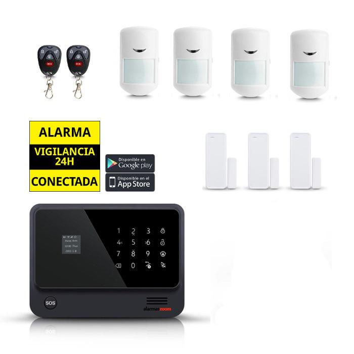 ALARMAS-ZOOM AZ019 1 KIT ALARMA WiFi IP Seguridad con 4 sensores de movimiento