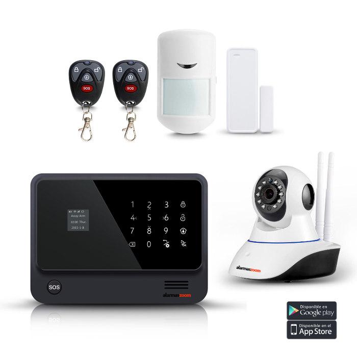 Kit seguridad alarmas casa Camara IP WiFi AZ019 3