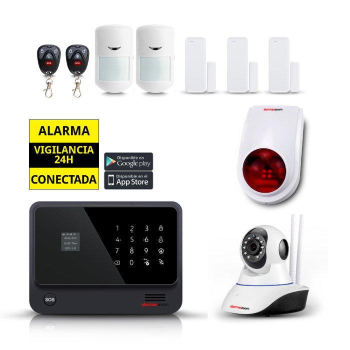 Kit seguridad alarmas casa Camara IP WiFi Sirena Exterior AZ019 4