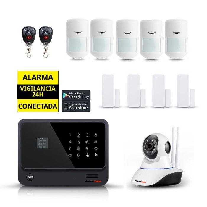 Kit seguridad alarmas casa 5 Sensores movimiento Camara IP AZ019 6