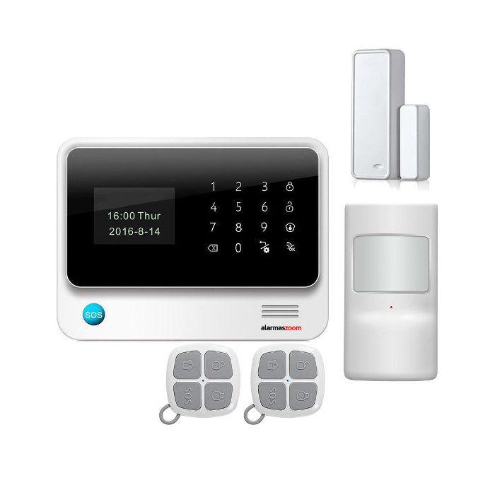 Alarma Hogar WiFi GSM AZ019 Sistema seguridad Sin Cuotas Aviso inmediato APP Domotica Color Blanco