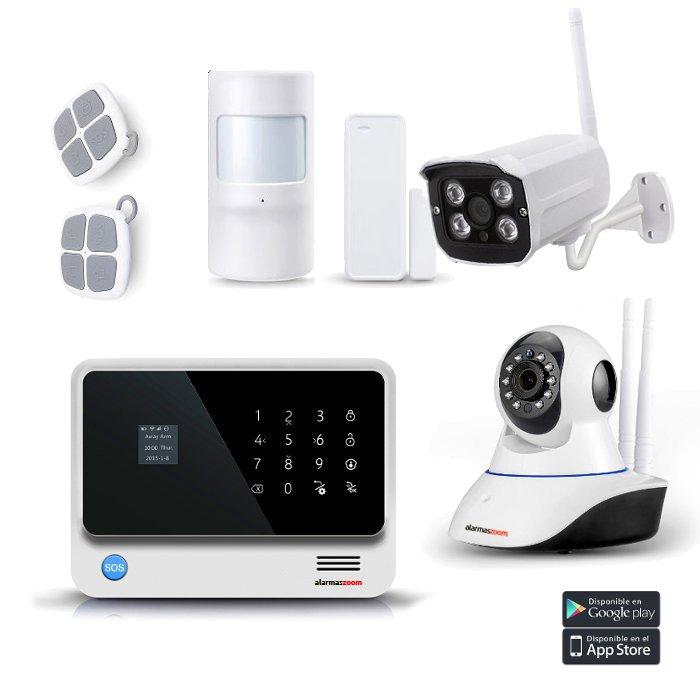 Kit Alarma Hogar AZ019 WiFi W1 Camara IP Exterior Sensor puertas Detector movimiento