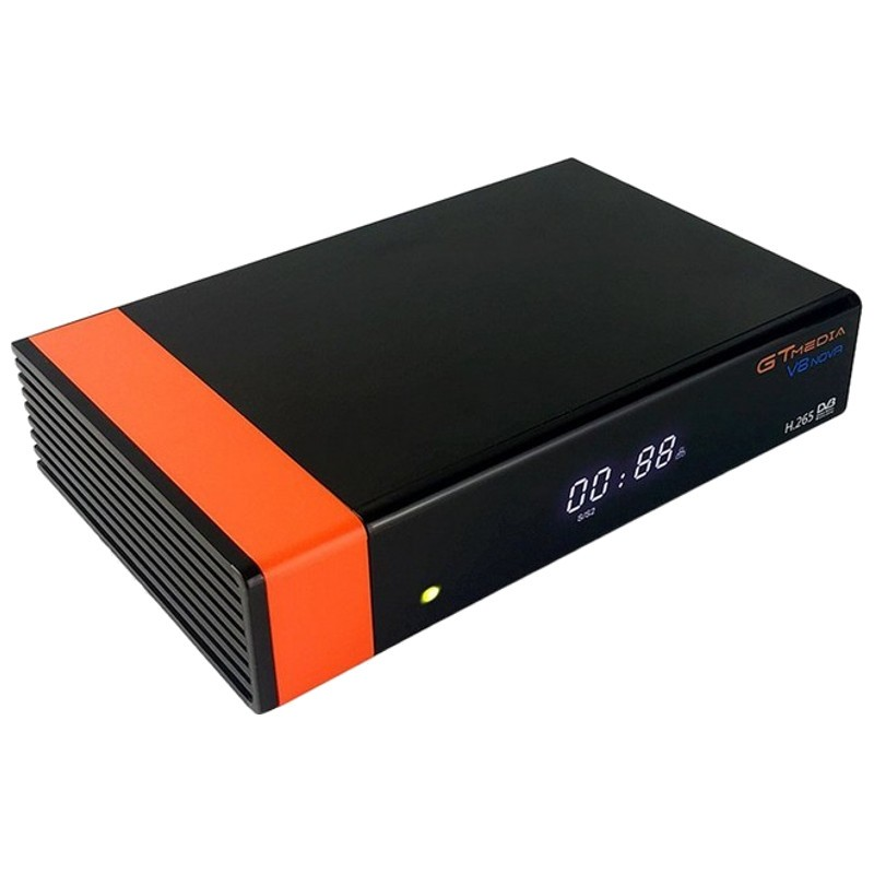 GTMEDIA V8 Nova Decodificador Satelite H265 Full HD 1080p Compatible CCCAM Naranja