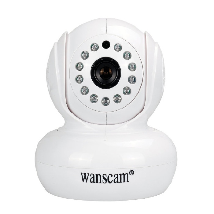 Wanscam HW0021 200W Camara IP WiFi interior motorizada color blanca Full 1080p Inalambrica