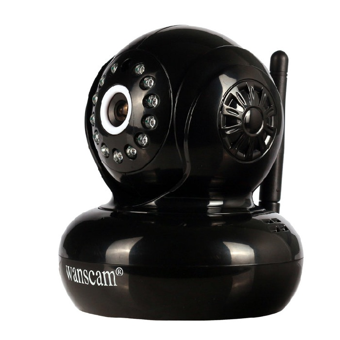 Wanscam HW0021 200W Camara IP WiFi interior motorizada color negra Full 1080p Inalambrica