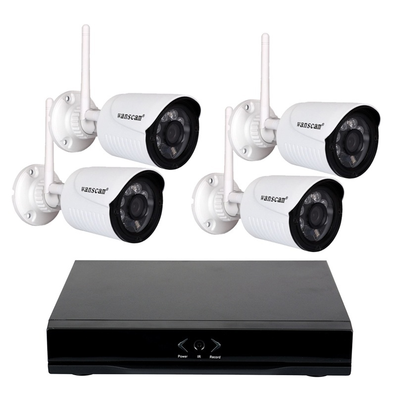 WANSCAM HL0162  4 HW0022 1 WANSCAM NVR HL0162 GRABADOR ONVIF 4 CAMARAS HW0022 FULL-HD IP EXTERIOR HD VIGILANCIA