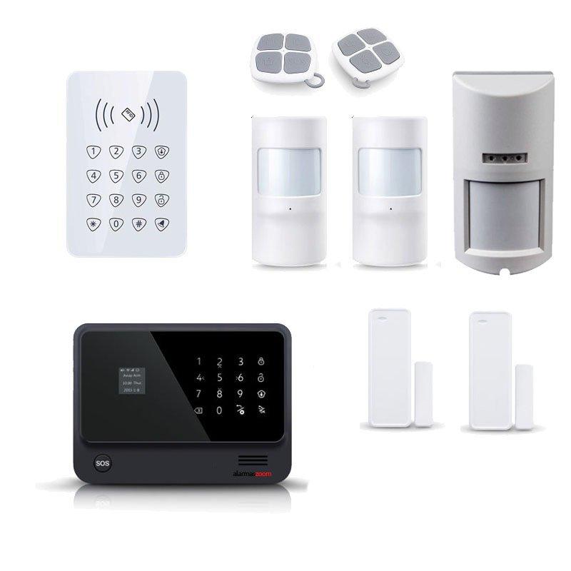 Kit seguridad alarmas casa Sensor movimiento exterior inalambrico AZ019 30