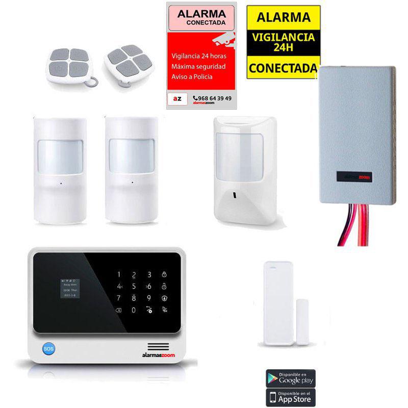 Kit Alarma Hogar WiFi AZ019 Blanca Sensores cableados Detector inhibidor senal