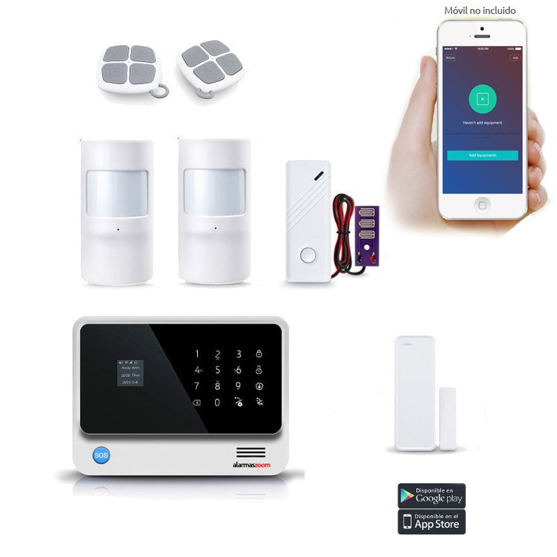 Alarma casa Kit seguridad WiFi y GSM Sensor inundacion AZ019 27 B