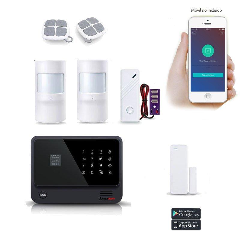 Alarma casa Kit seguridad WiFi y GSM Sensor inundacion AZ019 27
