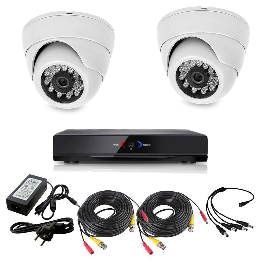 CAMARAS DE SEGURIDAD CCTV OTROS KIT 1 CON DVR GRABADOR 2 CAMARAS DOMO