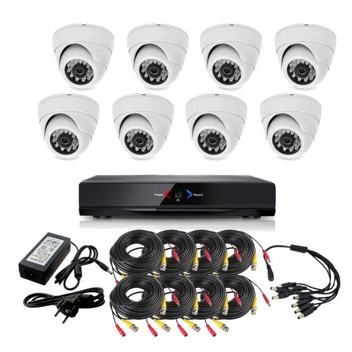 CAMARAS DE SEGURIDAD CCTV OTROS KIT 10 CON DVR GRABADOR 8 CAMARAS INTERIOR