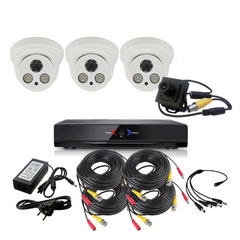 CCTV Grabador DVR AHDK028 3 Camaras Interior Full HD 1 Espia
