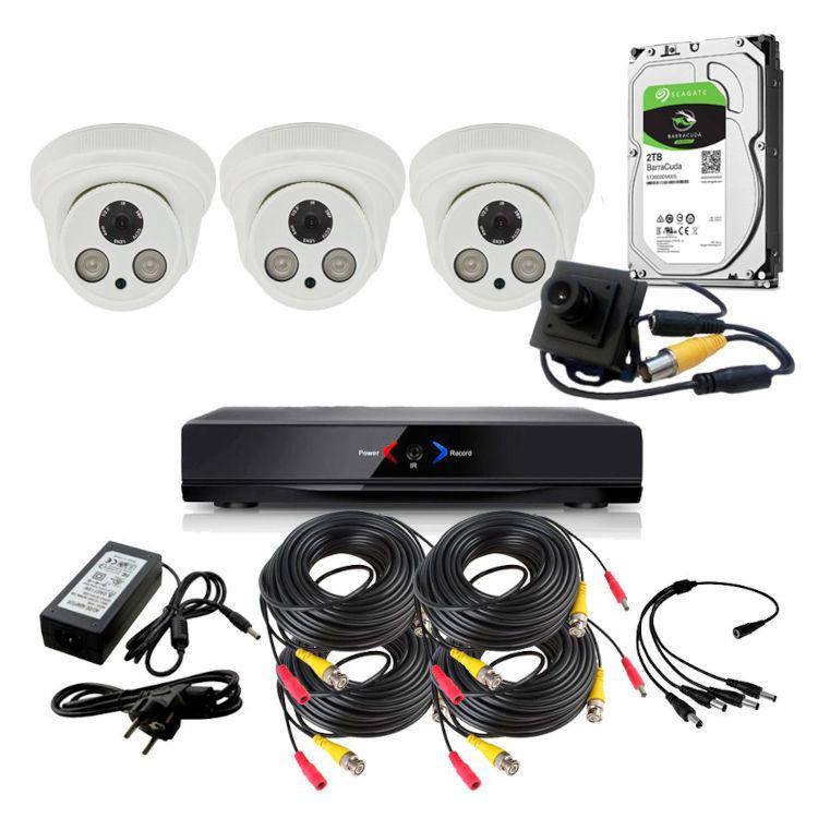 CAMARAS DE SEGURIDAD CCTV OTROS KIT 13 CON DVR GRABADOR 3 CAMARAS FULL HD Y 1 OCULTA 1TB