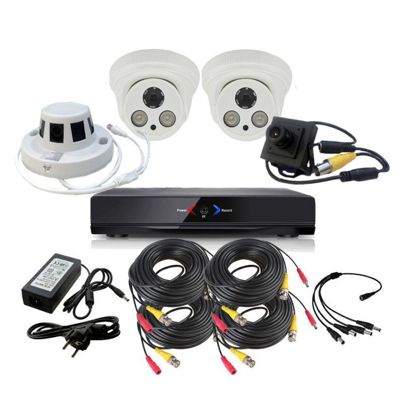 CCTV Grabador DVR AHDK030 2 Camaras Interior Full HD 1 Espia 1 Detector Incendio