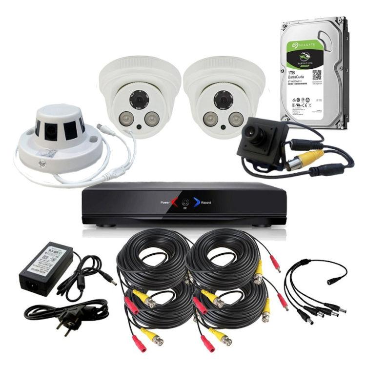 CAMARAS DE SEGURIDAD CCTV OTROS KIT 14 CON DVR GRABADOR 2 CAMARAS FULL HD Y OCULTAS 1TB