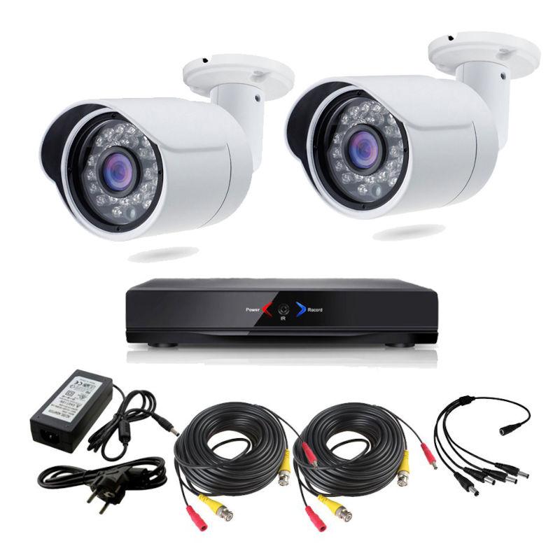 CCTV Grabador DVR AHDK024 2 Camaras Exterior HD