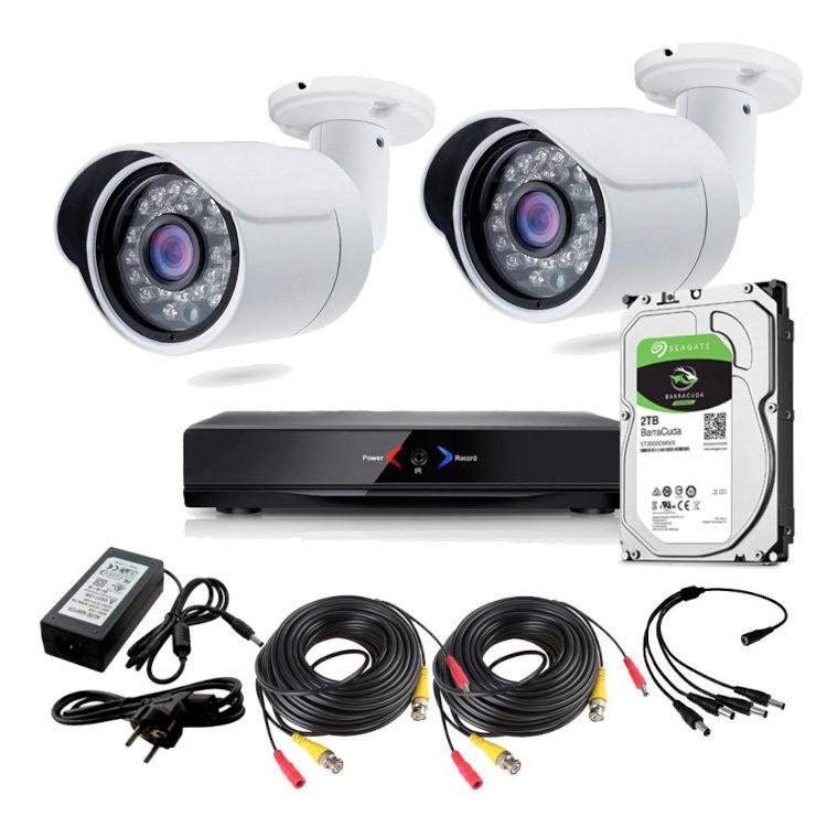 CCTV Grabador DVR AHDK025 2 Camaras Exterior HD Disco Duro 1Tb