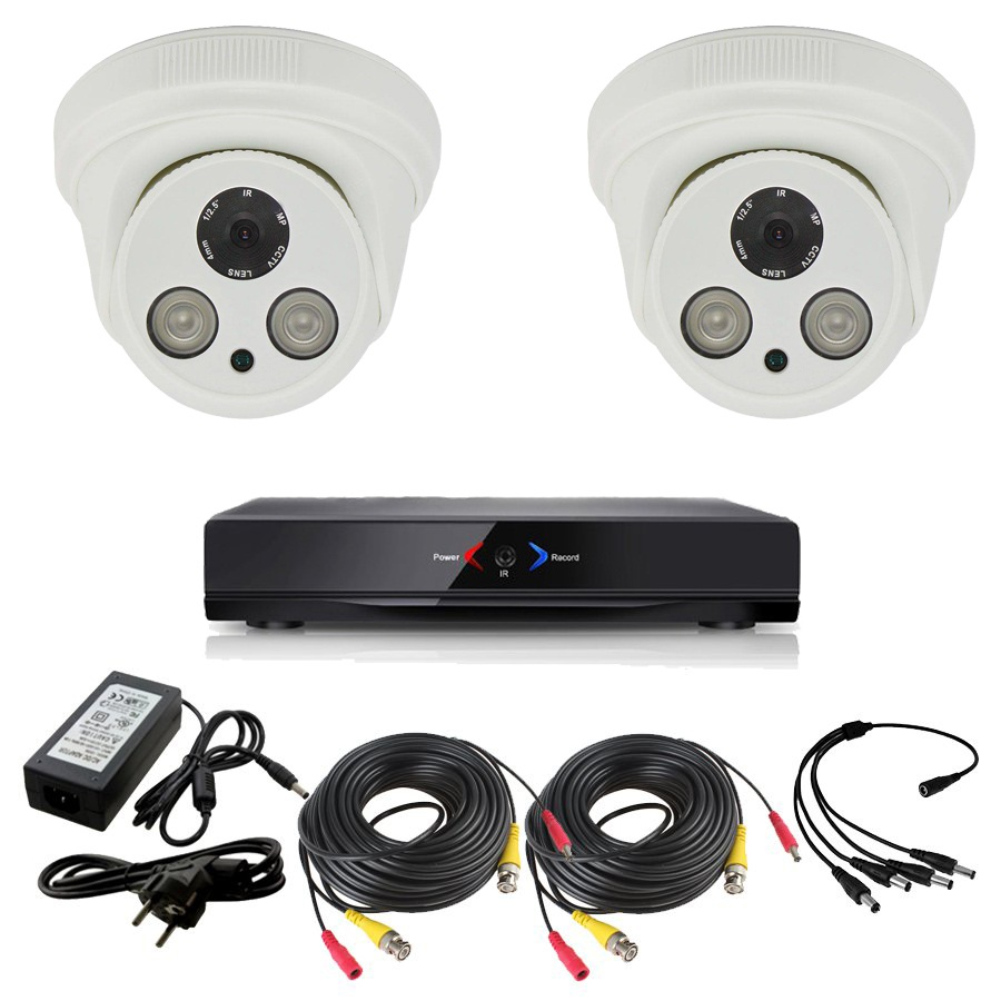 Otros KIT 2 con DVR GRABADOR 2 camaras FULL-HD