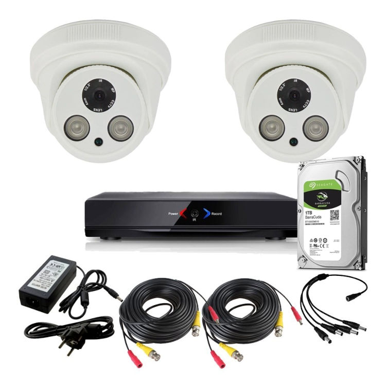 Otros KIT 2 CON DVR GRABADOR 2 CAMARAS FULL-HD 1TB
