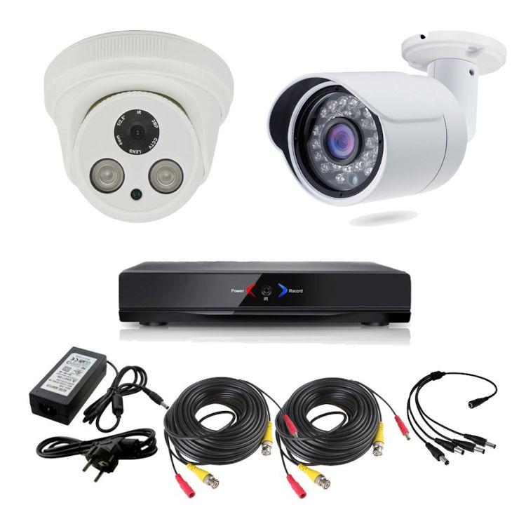 OTROS KIT 3 CON DVR GRABADOR 2 CAMARAS  Kit Grabador CCTV con 1 camara interior fija FULL-HD y 1 exterior HD 720p