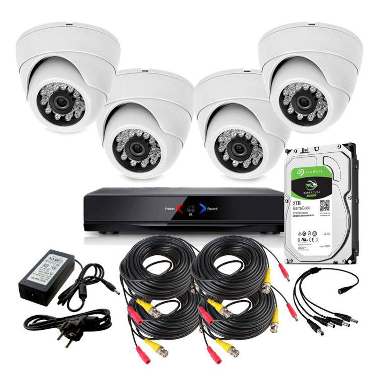 CAMARAS DE SEGURIDAD CCTV OTROS KIT 4 CON DVR GRABADOR 4 CAMARAS DOMO 1TB