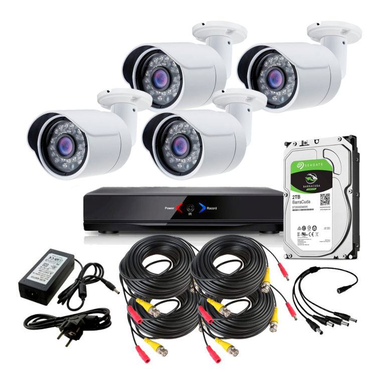 CCTV Otros KIT 5 con DVR GRABADOR 4 camaras exterior 1Tb