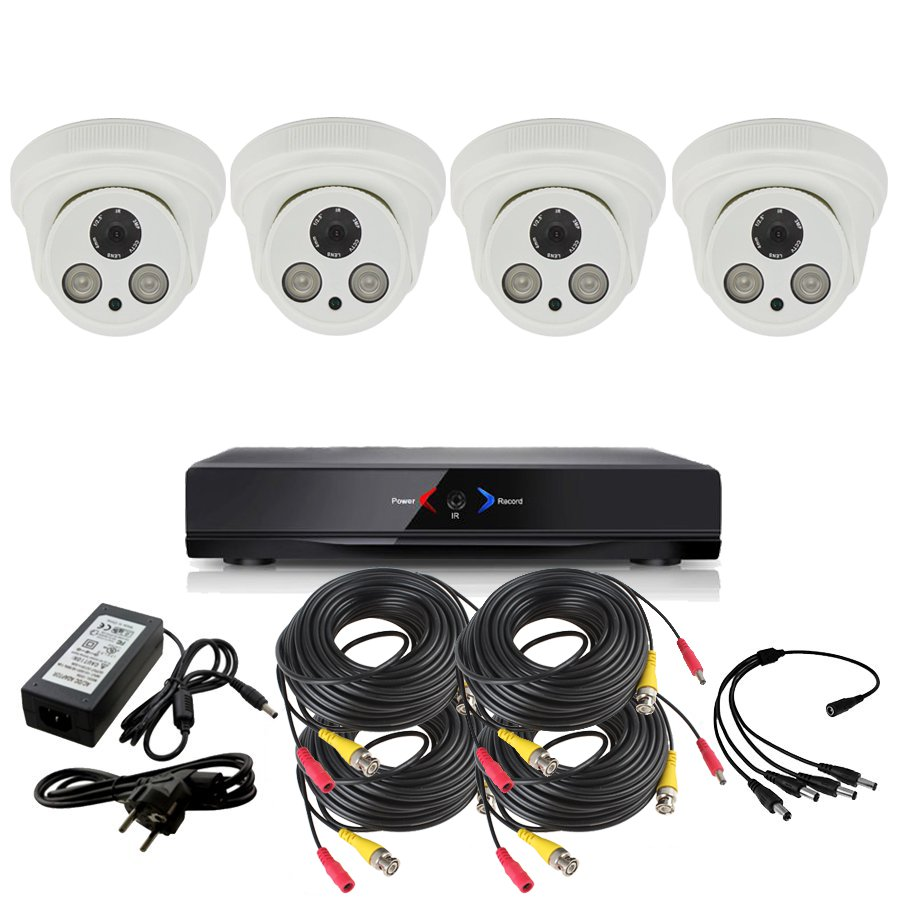 CCTV Otros KIT 6 con DVR GRABADOR 4 camaras FULL-HD