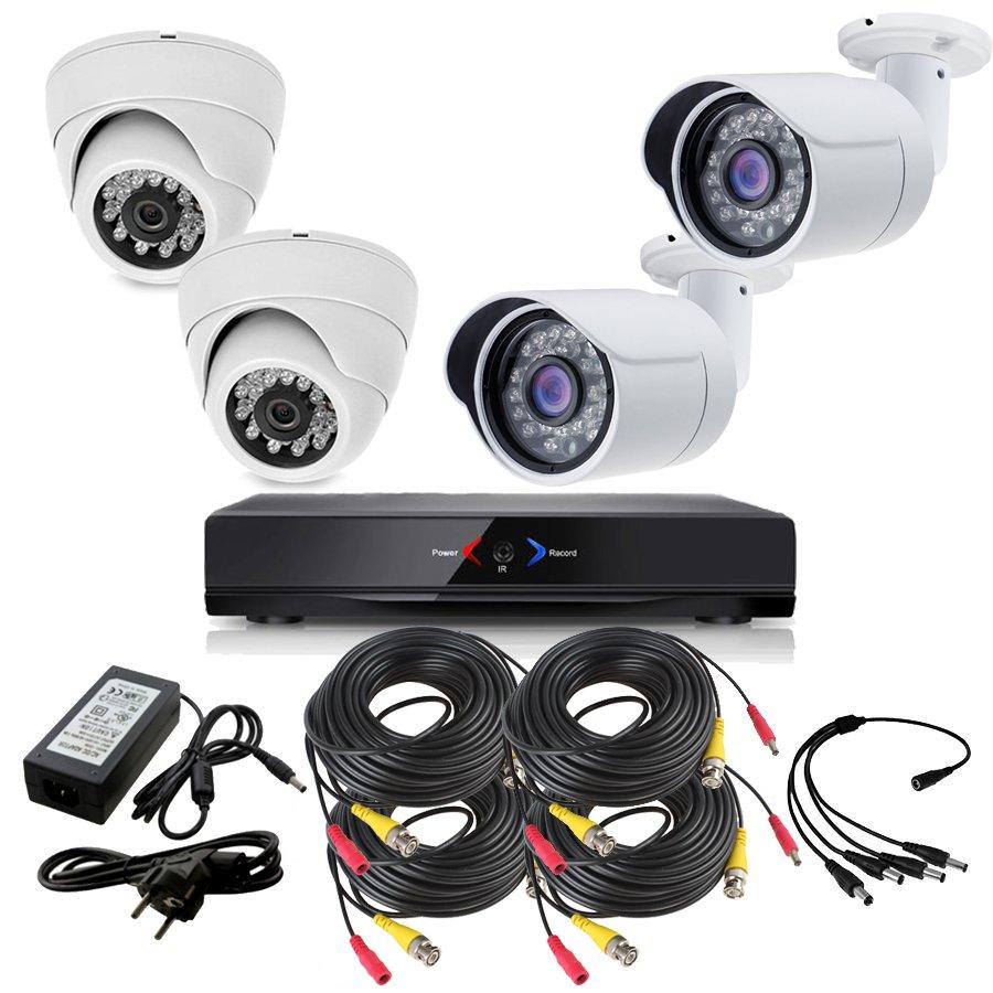 CCTV Grabador DVR AHDK007 2 Camaras exterior Camaras Interior Domo HD 720p