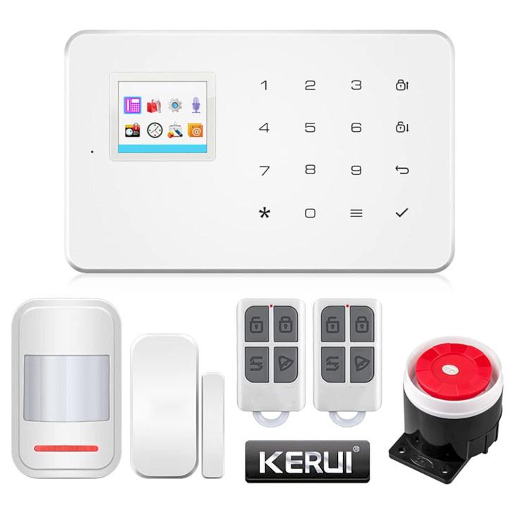 Kerui W18 Alarma Hogar WiFi GSM Seguridad casas Evitar Robos