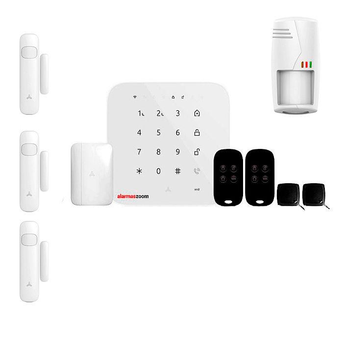 Alarma para casa sin cuotas GSM WiFi FHSS Anti mascotas Kit 4
