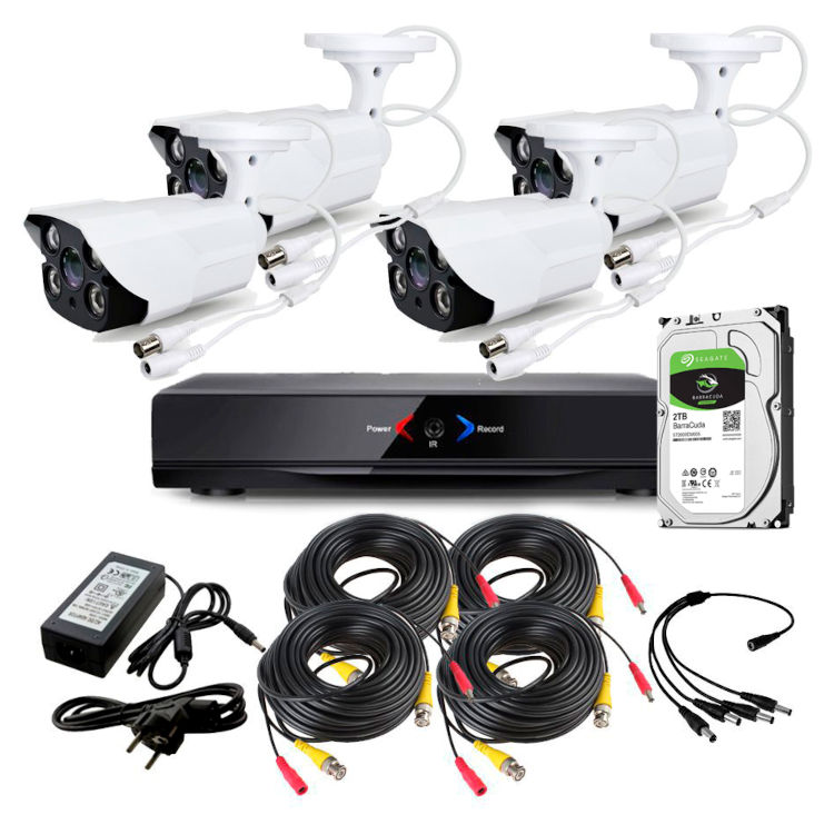 CCTV Grabador DVR AHDK052 4 Camaras exterior Seguridad Internet Disco Duro 1Tb