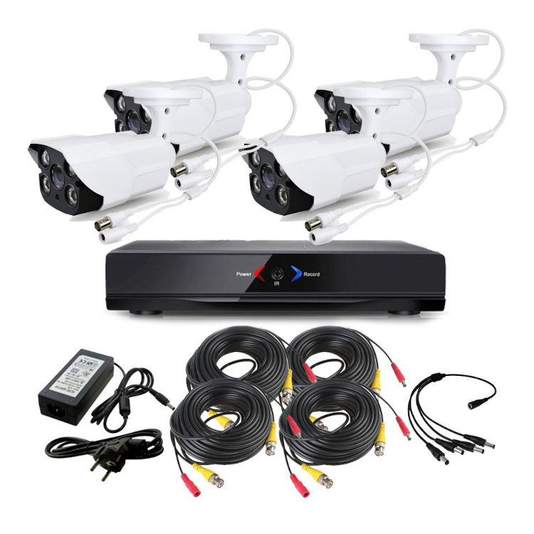 CCTV Grabador DVR AHDK047 4 Camaras exterior techo Seguridad vigilancia Internet