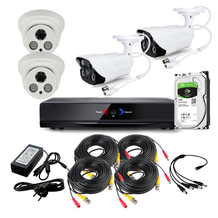 CCTV Grabador DVR AHDK055 2 Camaras exterior Interior Internet Disco Duro 1Tb