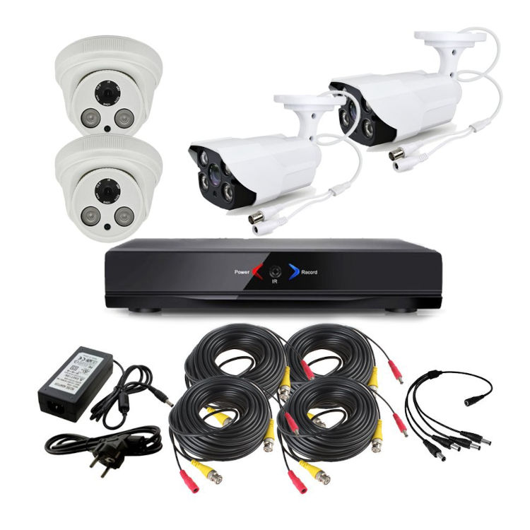 CCTV Grabador DVR AHDK048 2 Camaras exterior Interior Seguridad vigilancia Internet