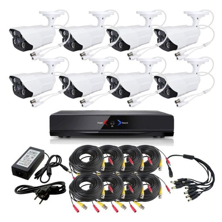 CCTV Grabador DVR AHDK049 8 Camaras exterior techo Seguridad vigilancia Internet