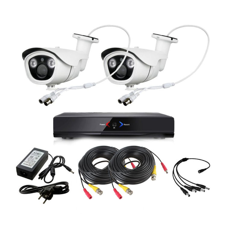 CCTV Grabador DVR AHDK036 2 Camaras Exterior Full HD 1080p
