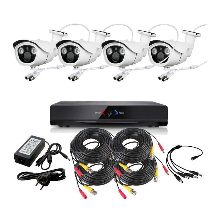 CCTV Grabador DVR AHDK037 4 Camaras Exterior Full HD 1080p