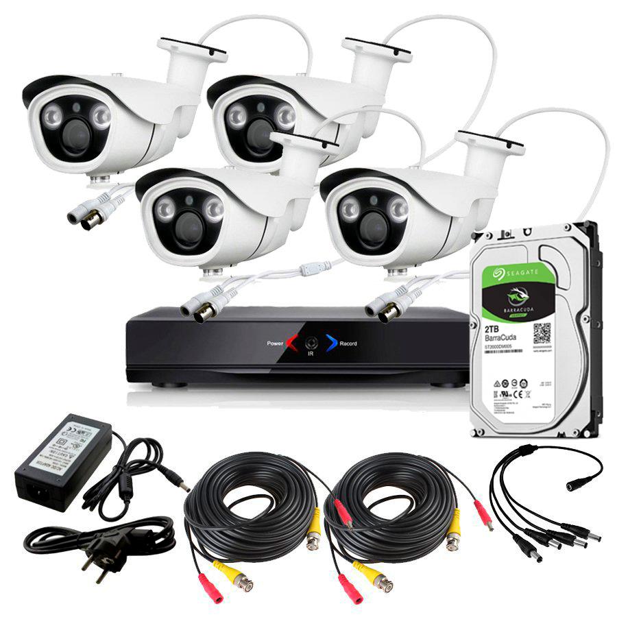 CCTV Grabador DVR AHDK039 4 Camaras Exterior Full HD 1080p Disco Duro 1Tb