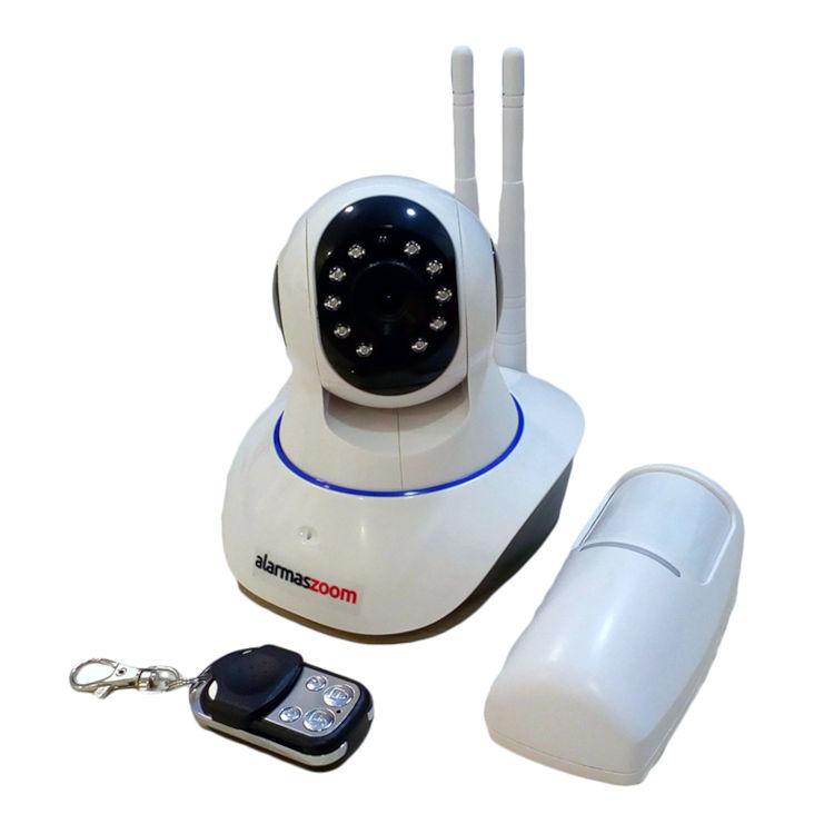 YOOSEE IPCAM G90 G 1 Kit alarma wifi compuesto por Camara IP 720p motorizada con 1 mando remoto y un sensor de movimiento