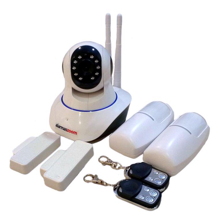 YOOSEE IPCAM G90 G 3 Kit alarma wifi compuesto por Camara IP 720p motorizada con 2 mandos remotos dos sensores de movimiento y tres de apertura puertas