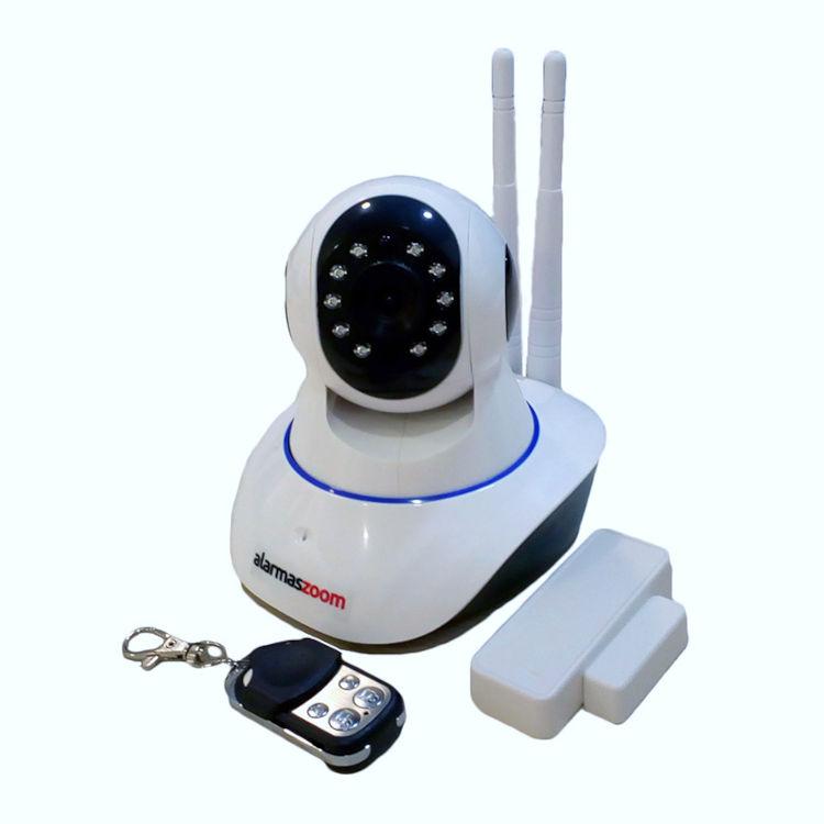 YOOSEE IPCAM G90 G P Kit alarma wifi compuesto por Camara IP 720p motorizada con 1 mando remoto y un sensor apertura puertas
