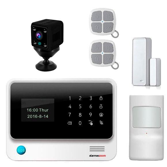 Kit Alarma para casa WiFi AZ019 Camara de seguridad inalambrica W