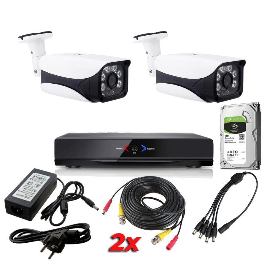 Kit Sistema de Seguridad CCTV Camaras vigilancia 4CH DVR 2 AHD114D SATA 1Tb Pack AHDK061